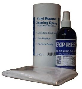 Record-Cleaner-Vinyl-LP-Cleaning-Spray-250ml-EXPRESS-with-Cloth-Fluid