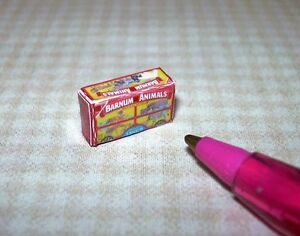 Miniature-Red-Animal-Cookies-Crackers-Box-DOLLHOUSE-Miniatures-1-12-Scale