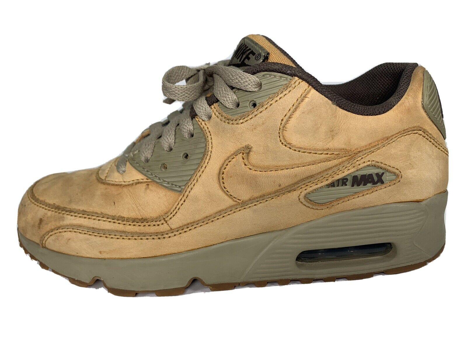 Nike Air Max 90 Winter PRM Flax Wheat GS Size 6y Wheat 943747-700 ...