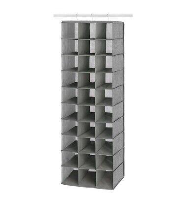 Whitmor Hanging Shoe Shelves  30 Section Closet Organizer Shelf Over Door  Rack. 38861646280 | EBay