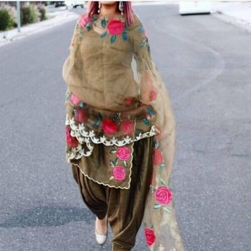 Indian Ethenic Designer Punjabi Patiala Suit  Dress Material