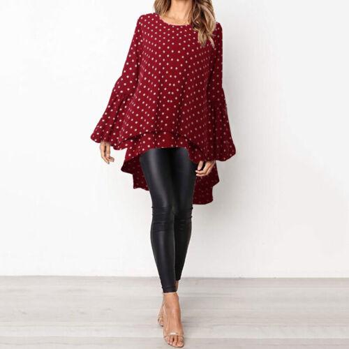 ZANZEA Women/'s Long Sleeve Double Layer Shirt Tops Asymmetrical High Low Blouse