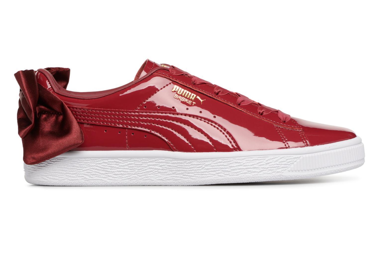 Damen Puma Basket Bow Patent Turnschuhe Rot