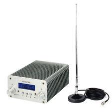 5W/15W FM Transmitter Radio Stereo Station Wireless Broadcast 87~108MHz+Tracking