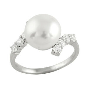Fancy-Sterling-Silver-ring-with-9-10mm-button-freshwater-pearl-and-CZ-RS-113