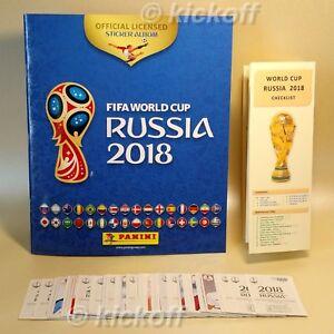 Panini-WORLD-CUP-Rusia-2018-100-cromos-album-vacio-unico-lista-de-comprobacion