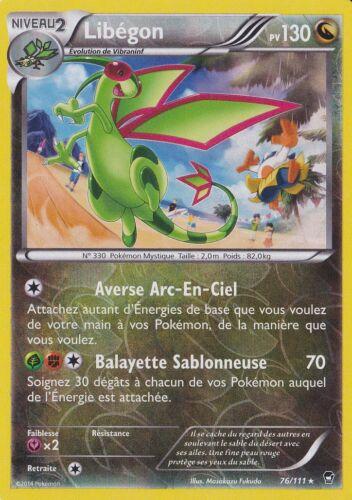 XY3:Poings Furieux Libégon Reverse 76//111 Carte Pokemon Neuve Française