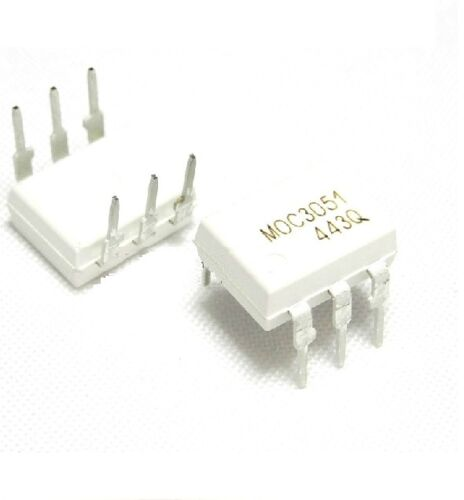 10 Piezas Ic moc3051 FSC Optoacoplador triac-out 6-dip Nuevo S8