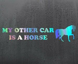 HORSE-RIDE-Chrome-holographic-vinyl-sticker-funny-car-decal-JDM-DUB-bumper
