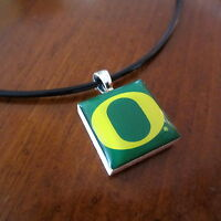 University Of Oregon Ducks O Logo Tile Charm Pendant Necklace Lifetiles Jewelry