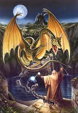 WAD05 bn! Dragon en chaînes cross stitch chart