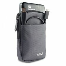 "GIZGA 2.5"" Hard Drive Case - Impact Resistant Jacket Pouch (Slate Grey)"