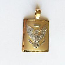 14K Solid Yellow Gold Eagle Men's Pendant - P162