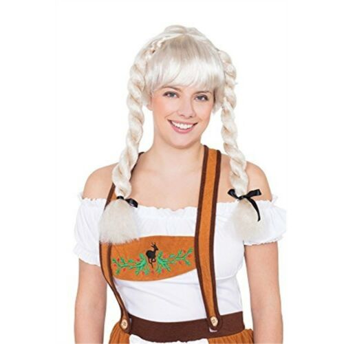 Pigtail Wig Blonde Bristol Novelty Bw944 Fraulein Pigtails Wig One Size