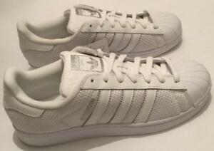 3d07da200942 ADIDAS SUPERSTAR TRAINERS - ALL WHITE - BRAND NEW IN THE BOX - SIZES ...