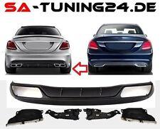 Für Mercedes-Benz C-Klasse W205 C63 AMG Look Heckschürze Stoßstange Diffusor #81