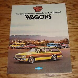 original 1978 chevrolet station wagon sales brochure 78 chevy rh ebay ie 1978 Caprice Specs 1978 Monte Carlo
