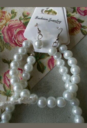Bracelet and Earring Jewellery Set @ @ 1 x Pearl Necklace