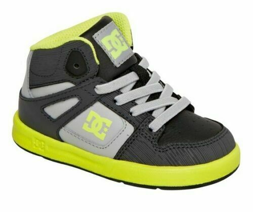 DC Rebound Ul Mid Hi Grey Yellow Black Infant Infant Toddler Baby Boy Shoes Sizs