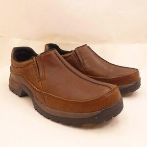 ROPER PERFORMANCE Men's Size 8 Brown Leather Slip-On Moc Shoes
