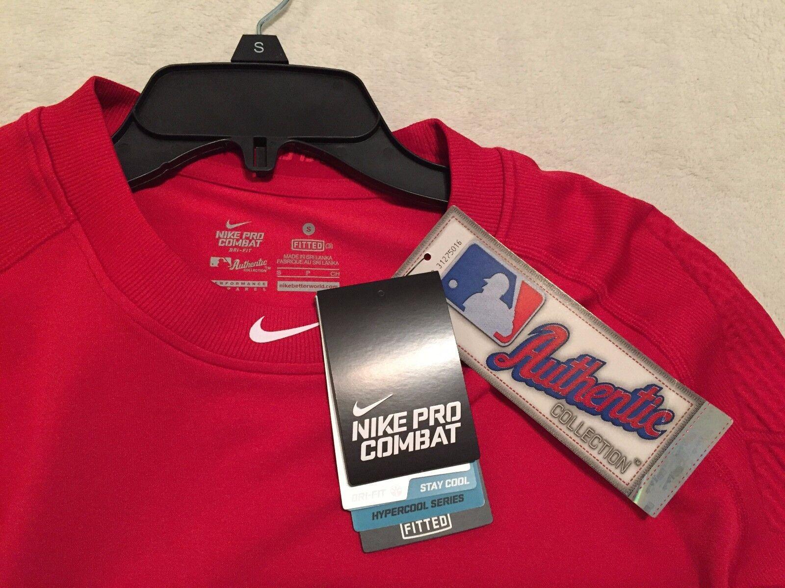 NIKE PRO COMBAT Men's Dri Fit HYPERCOOL Fitted Baseball Shirt Sz Small  NWT