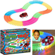 Speedway Glow Trax Magic Race Track Set With Light Up Car 221 Piece 11 feet of