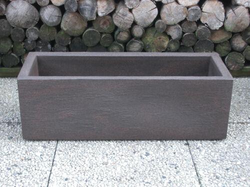 Pflanzkübel Blumenkübel 80x29x26cm Schieferstruktur rostbraun Kunststoff  Lounge