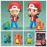 Pokemon Red Nendoroid/Charmander/Bulbasaur Set of 4 Pc Figures Toy Doll with box