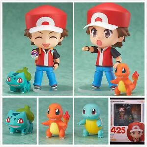 Pokemon-Red-Nendoroid-Charmander-Bulbasaur-Set-of-4-Pc-Figures-Toy-Doll-with-box