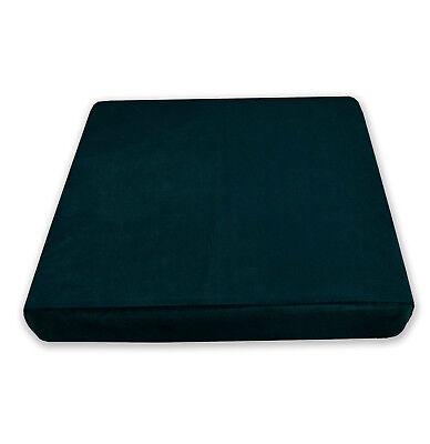 Mf23r Light Teal Blue Microfiber Velvet 3D Round Seat Cushion Cover Custom Size
