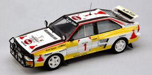 Audi Quattro # 1 3ème Safari 1984 H. Mikkola / A. Hertz Modèle 1:13, modèle 1613