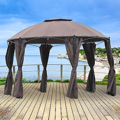 Φ3.65m Pavilion Metal Gazebo Awning Canopy Sun Shade Shelter Marquee Party Tent