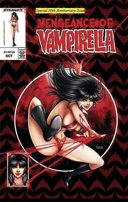 Dynamite Comics VAMPIRELLA #1 TIM SALE VIRGIN VARIANT //300 MADE WITH COA