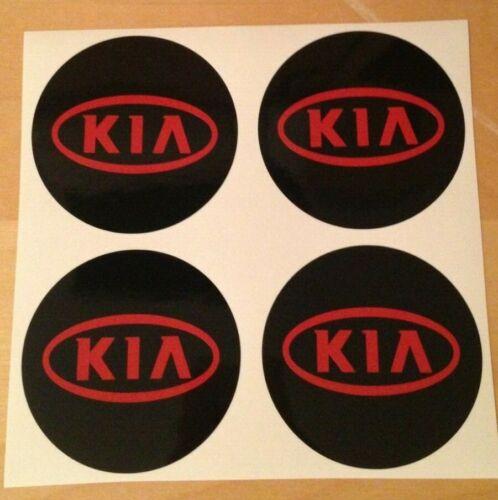 4x 60 mm si adatta KIA Ruota Adesivi Badge Centro Centro Trim Cap Hub in lega RE
