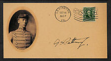 George S Patton VMI Autograph Reprint On Orig. Period 1907 3X6 Card 109