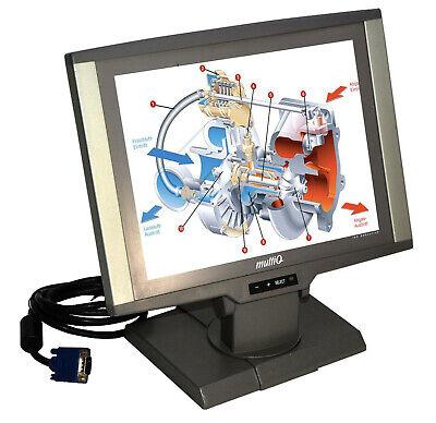 """12"""" 30cm Vga Tft Drehbarer Monitor Multiq Mq122e 12v Ps Schutzglas 800x600 M2 Mm"""