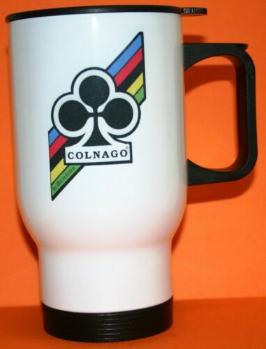 COLNAGO RETRO CYCLING BICYCLE 14oz NOVELTY INSULATED TRAVEL TEA//COFFEE MUG