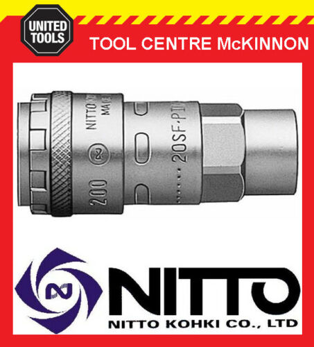 """30SF-200 GENUINE NITTO ONE TOUCH FEMALE COUPLING WITH 3//8"""" BSP FEMALE THREAD"""