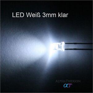 LED-Weiss-3mm-klar-superhell-verschiedene-Mengen-10-20-30
