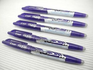 5-x-Pilot-LFB-20F-Frixion-0-7mm-Fine-Erasable-Rollerball-Point-Pen-VIOLET