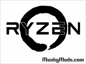 AMD-RYZEN-Logo-Computer-PC-Case-Window-Applique-Vinyl-Decal-Color-Choices