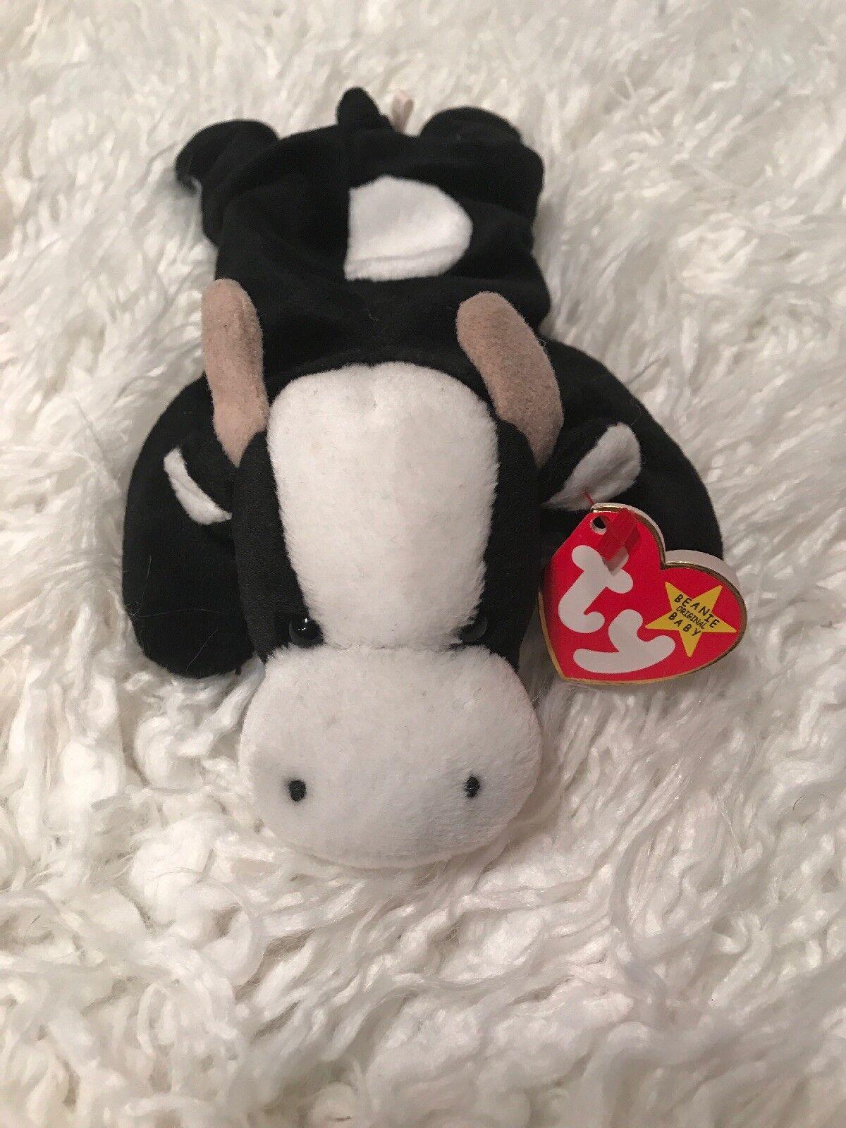Ty Beanie Baby Daisy the Cow, May 10, 1994 , PVC, Style 4006, RARE, ERRORS