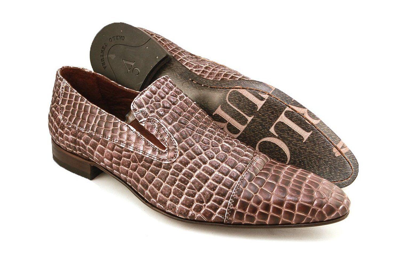voitureLO VENTURA 2406 Homme Slip-on Chaussures En Crocodile Imprimé Cuir