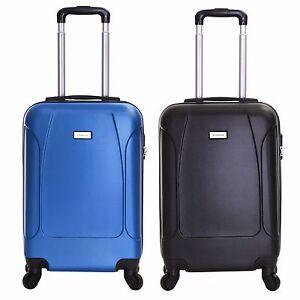 Ryanair EasyJet Hard Cabin 4 Wheels Spinner Trolley Luggage ...