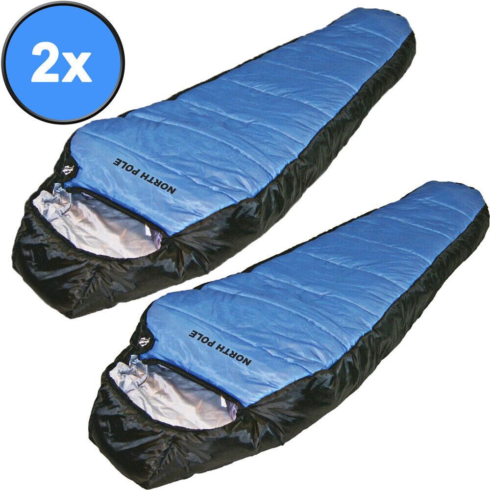 2x EXPLORER Schlafsack North Pole 2000mm Biwak Winterschlafsack Zelt XXL Comfort