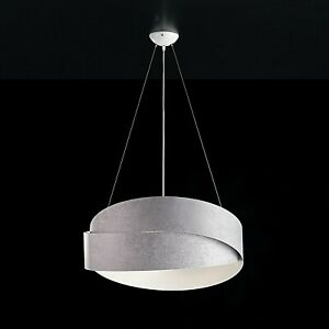 Modern Chandelier Effect Cement Grey White Bands Polished Salon Cooking Hall Ebay