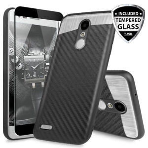 For-LG-Stylo-4-Plus-Q-Stylus-Alpha-Magnetic-Phone-Case-Black-Tempered-Glass