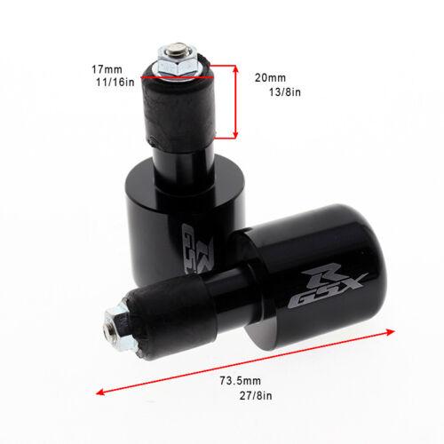 Suzuki CNC Bar Ends Grip Aluminum Handle Plain GSX-R 600 750 1000 1300...B-King