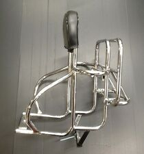 Rear / back carrier rack 3 way in chrome for Vespa PX & LML Star by Cuppini