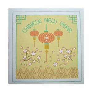 chinese new year cards pack of 6 cards
